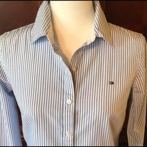 EUC-TOMMY HILFIGER button down shirt